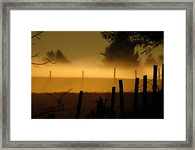 Framed Print featuring the photograph Barbed Silhouette by Paul Noble