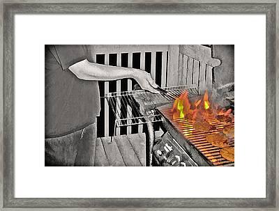 Barbeque Framed Print by Steve Ohlsen