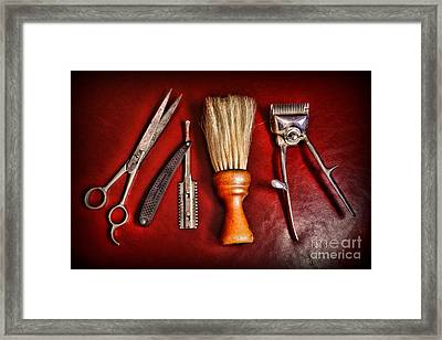 Barber - After The Haircut Framed Print by Paul Ward