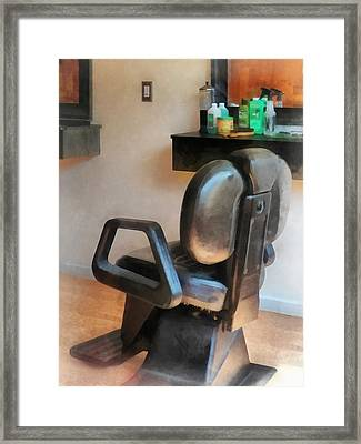Barber - Barber Chair And Hair Supplies Framed Print