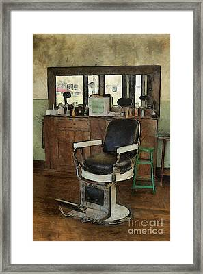 Barber - Barber Shop Framed Print by Liane Wright