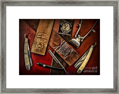 Barber - Barber Tools Of The Trade Framed Print by Paul Ward
