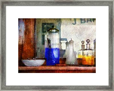Barber - Blueberry Flavored Thanks For Asking Framed Print by Mike Savad