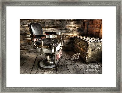 Barber Chair Bannack Montana 2 Framed Print by Bob Christopher