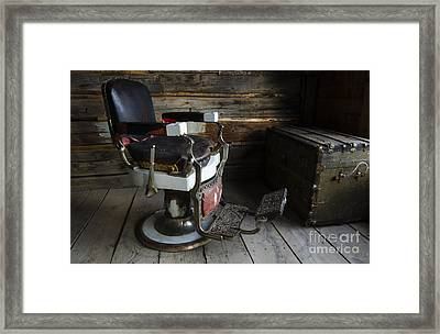 Barber Chair Bannack Montana Framed Print by Bob Christopher
