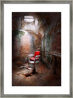 Barber - Eastern State Penitentiary - Remembering My Last Haircut  Framed Print by Mike Savad