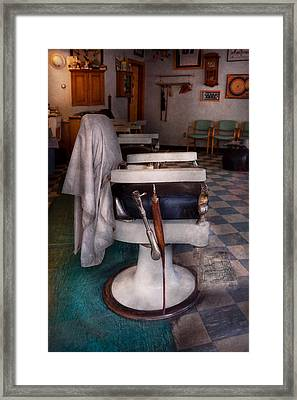 Barber - Frenchtown Nj - We Have Some Free Seats  Framed Print by Mike Savad