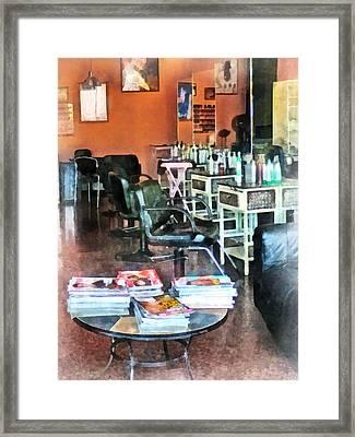 Barber - Hair Salon Framed Print by Susan Savad