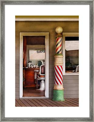 Barber - I Need A Hair Cut Framed Print by Mike Savad