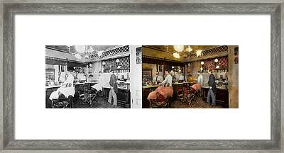 Barber - L.c. Wiseman Barbershop Ny 1895 - Side By Side Framed Print by Mike Savad