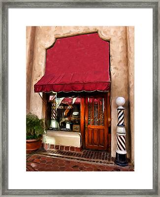 Barber Old Time Framed Print by Cary Shapiro