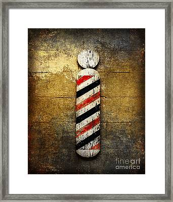 Barber Pole Framed Print