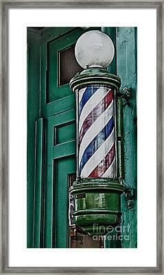 Barber Pole Framed Print