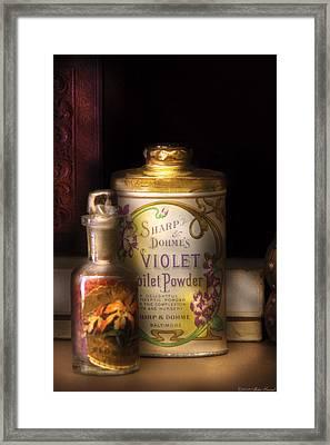 Barber -  Sharp And Dohmes Violet Toilet Powder  Framed Print by Mike Savad