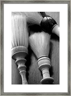Barber Shop 13 Bw Framed Print by Angelina Vick