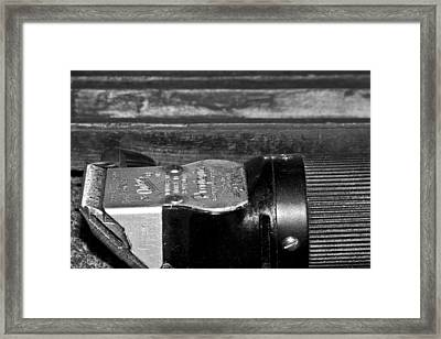 Barber Shop 2 Bw Framed Print by Angelina Vick