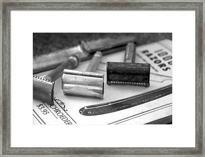 Barber Shop 20 Bw Framed Print by Angelina Vick