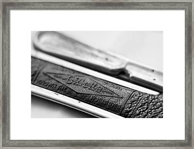 Barber Shop 21 Bw Framed Print