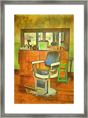 Barber Shop  Framed Print by L Wright