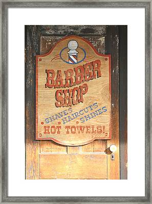 Barber Shop Framed Print