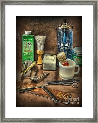 Barber Shop Tools  Framed Print