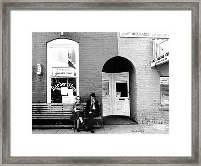 Barber Shop Watertown Tennessee Framed Print by   Joe Beasley