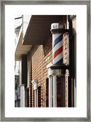 Barber Smithtown New York Framed Print