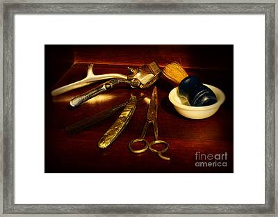 Barber - Things In A Barber Shop Framed Print by Paul Ward