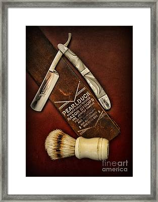 Barber - Tools For A Close Shave  Framed Print by Paul Ward
