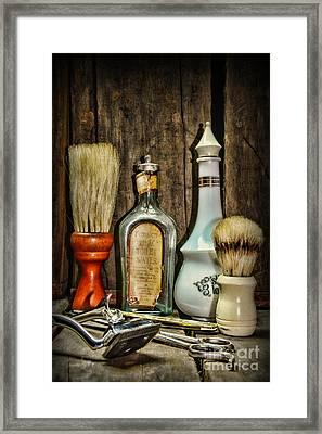 Barber - Vintage Barber Bottles Framed Print by Paul Ward