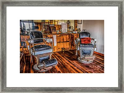 Barbershop Framed Print