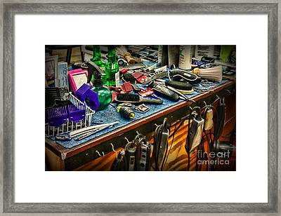 Barbershop - So Many Tools	 Framed Print