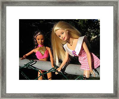 Framed Print featuring the photograph Barbie Escapes by Nina Silver