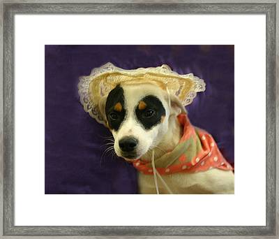Barbie In A Hat Framed Print by Nina Fosdick