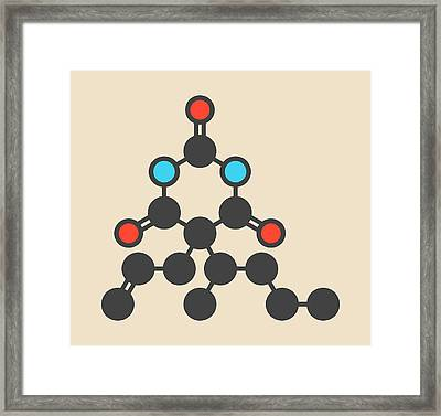 Barbiturate Sedative Molecule Framed Print