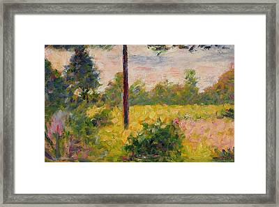 Barbizon Forest Framed Print by Georges Pierre Seurat