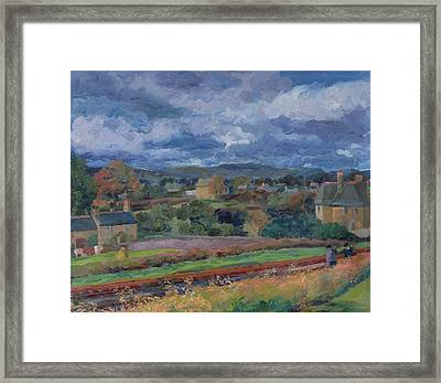 Barbon From The Railway Line Autumn Framed Print