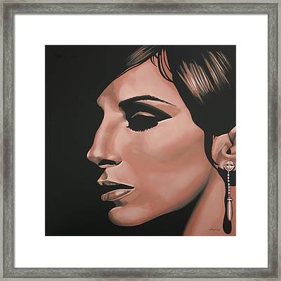 Barbra Streisand Framed Print by Paul Meijering