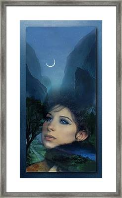 Barbra's Smiling Moon Framed Print