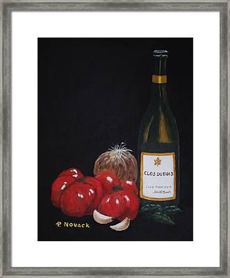 Barb's Italian Sauce Mix Framed Print by Patricia Novack
