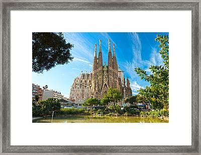 Barcelona - La Sagrada Familia Framed Print