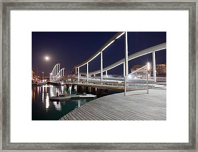Barcelona At Night Framed Print by Artur Bogacki