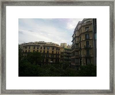 Barcelona Buidings Framed Print by Shesh Tantry