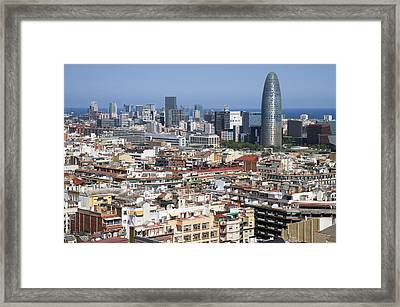 Framed Print featuring the photograph Barcelona Cityscape by Nathan Rupert