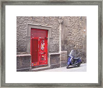 Barcelona Doorway Framed Print