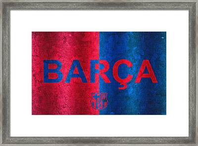 Barcelona Football Club Poster Framed Print