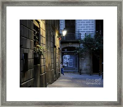 Barcelona Graffiti Framed Print