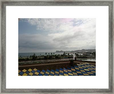 Barcelona Majestic View Framed Print by Shesh Tantry