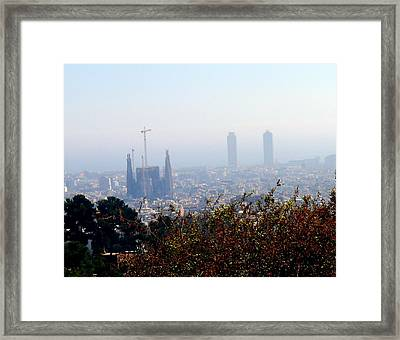Barcelona Framed Print by Olga Breslav