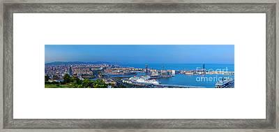 Barcelona Panorama Framed Print by Michal Bednarek